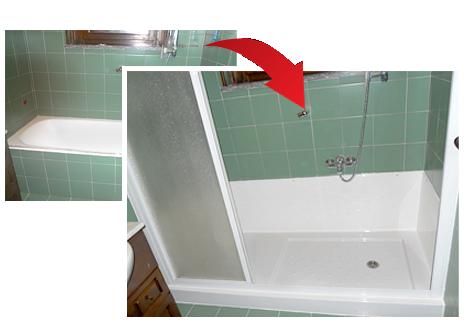 una doccia bella e funzionale al posto della tua vecchia vasca da bagno